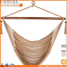 Hanging Carribean Polyester Rope Hammock Chair Swing In Tan