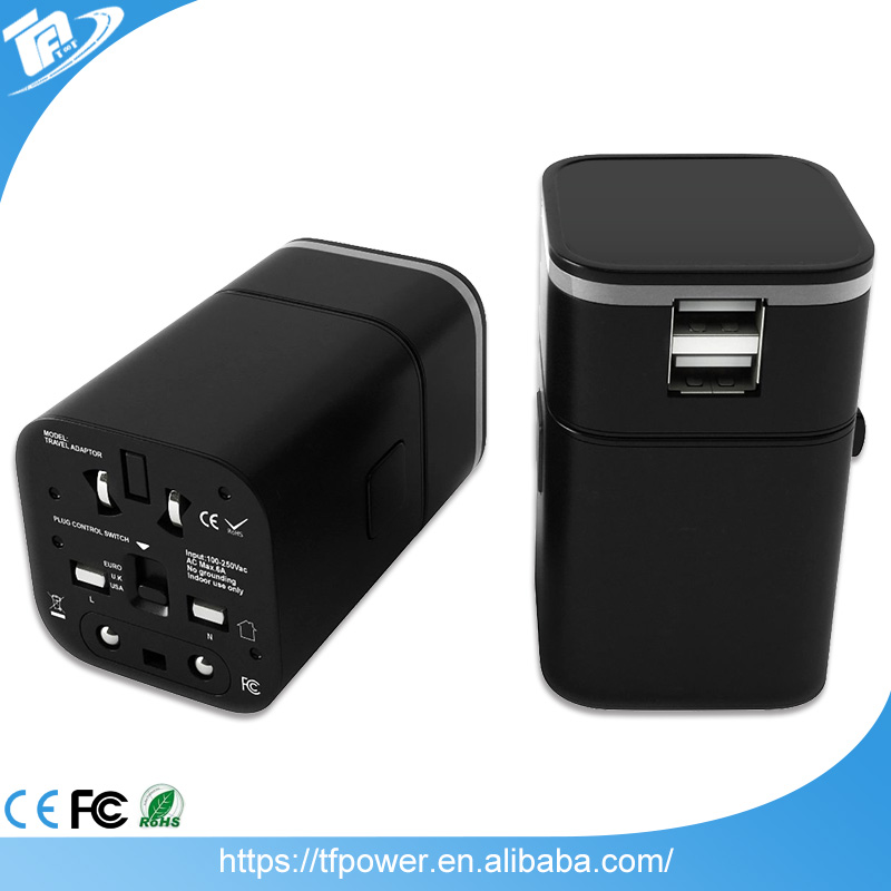 Universal US AUS UK EU Plug 4 in 1 Wall Charger AC Travel <strong>Adapter</strong>