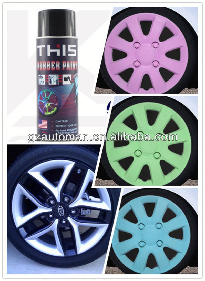 2015 All Purpose Removable Black Rubber Tire Paint, Plastic Dip Rubber Coating, Rubber Dip