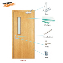 EN UL Approbed fire rated stable door interior wood fireproof door