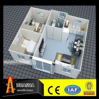 The steel structure apartment building container house