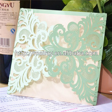 Artificial Style and Card Product Type Mint Green laser cut Wedding Invitations Suite