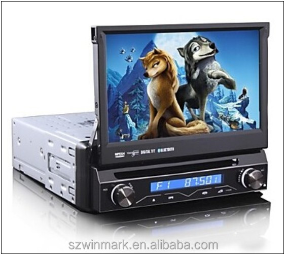 Hot-selling one din 7 inch HD TFT car dvd player DJ7088 with GPS,tv,DVD,audio,BT,DVD,USB,SD etc.functions for all cars.
