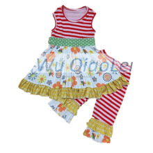 China yiwu factory kids fashion clothes wholesale children girls clothing sets girl boutique clothing