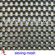 Stainless Steel Woven Mesh Drapery, Architectural Metal Wire Fabric For Elevator Cab Decoration