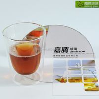 2016 new products,Promotional Handcrafted Pyrex 150cc double wall glass coffee