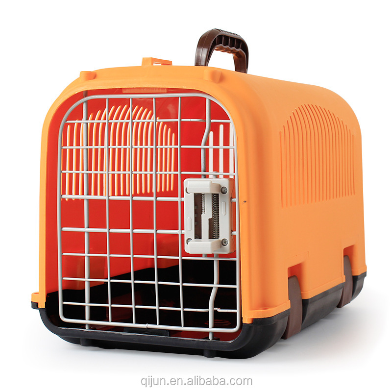 Wholesale Pet Dog Cat Cage Plastic Pet Carrier Pet Airways Box Luggage Transport Cage
