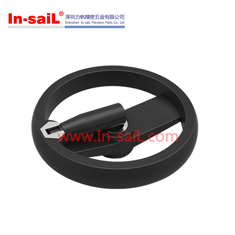 Reinforced nylon plastic disk two spoked handwheels for machine
