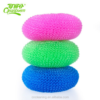 Kitchen cleaning sponge/ Plastic Cleaning scourer Ball
