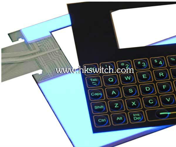 Backlighting (EL) membrane keypads