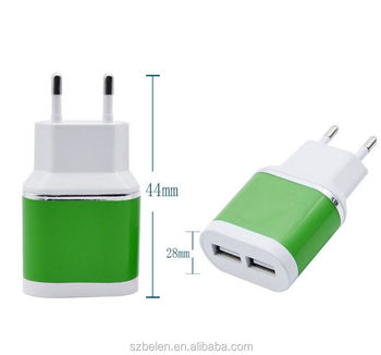 New Products Oem 5V 2.1A Mobile Universal Wall Home Charger Dual Usb Wall Charger For Cell Phone