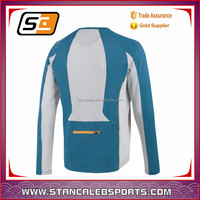 Custom made winter long sleeve cycling jersey with backpack