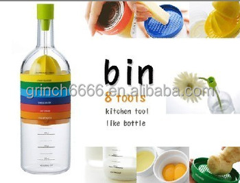 Hot seller Multi-function Plastic Kitchen Tool 8 in 1 (Bin 8 Tools)