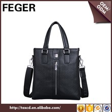 FEGER Leather Handmade Briefcase Shoulder Bags Men's For Sale