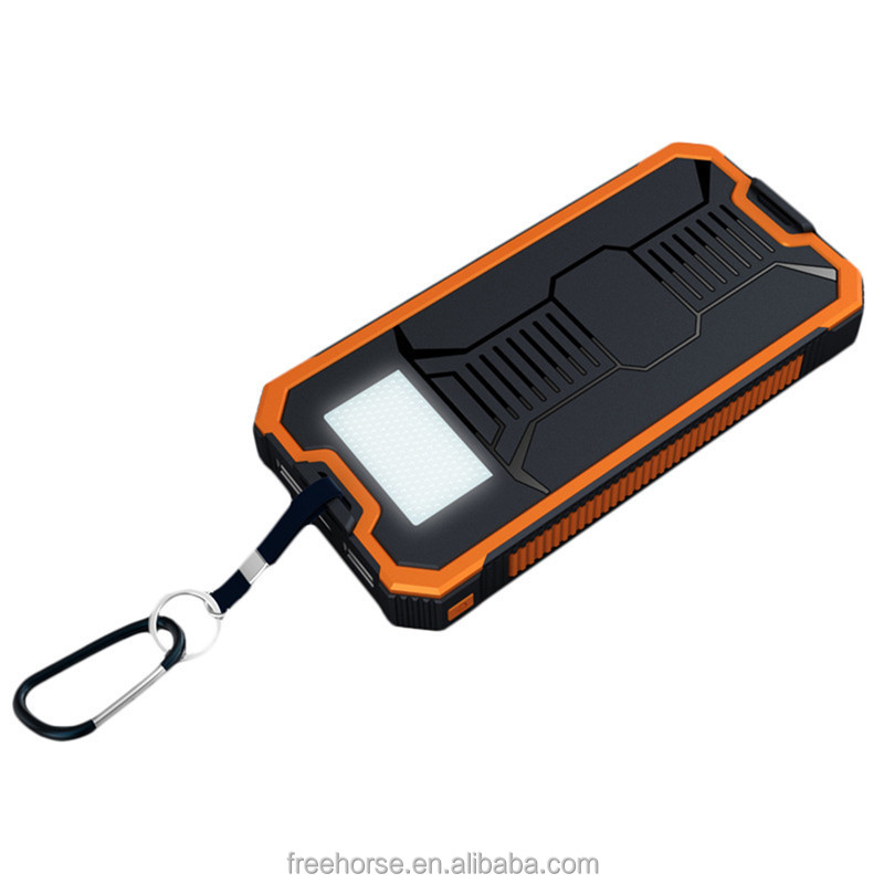 New product 2016 8000mah waterproof mini solar power bank