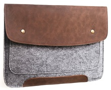 13.3 inch felt carrying case/felt laptop sleeve case for Macbook Air