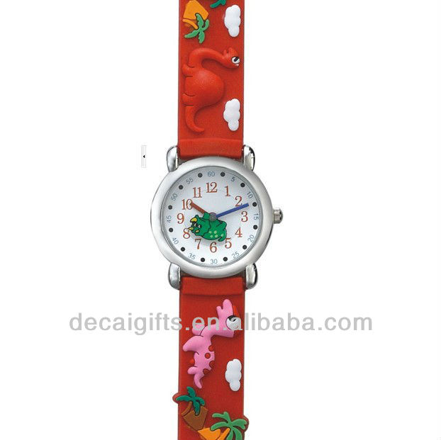 Dinosaur rubber watch wholesale $3 rubber watches