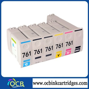 Ocbestjet 761 remanufactured compatible ink cartridges, for hp t7100 t7200 recycle ink cartridges