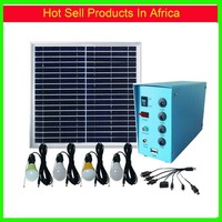 10W Mini Solar Power system for Remote area with lighting and charging mobile phone function