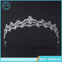 HG339 New Simple Flash Diamond Tiara Hair Accessories Birthday Small Rhinestone Crown
