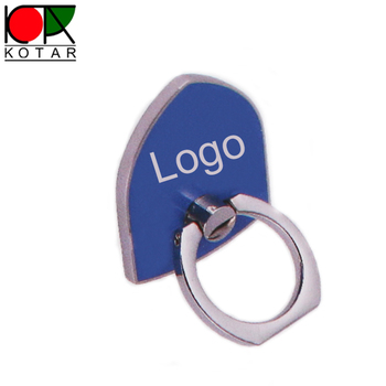 custom multi-functional shield shape metal mobile phone ring holder
