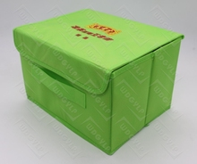Promotional Custom Printed Logo Non Woven Foldable Storage Box