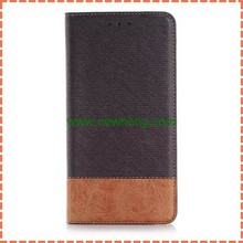 Hit color Cross Texture Flip Leather Case For Samsung Galaxy note5