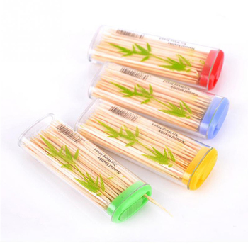 Custom design wooden toothpicks in bottles