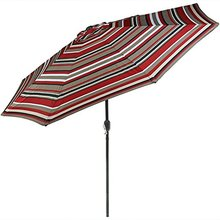 9ft outdoor crank open Patio Umbrella With Flap