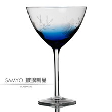 Samyo Crystal clear vino grande cocktail martini glass /fancy martini glassware