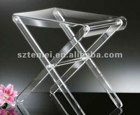 folding clear acrylic side table