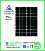 18V 75W mono poly solar panel for home High efficiency solar Cell
