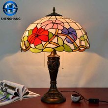 Retro style home decor tiffany table lamp laser cut turkish mosiac glass lampshade for coffee lighting made in China