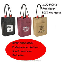 non woven 2 bottles carrying wine bag