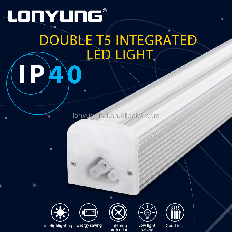 Double T5 Lighting Source Office 120lm/w double led tube holder