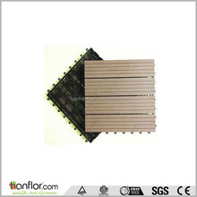 Anti-mould Outdoor DIY wpc veranda easy interlocking deck tiles/ DIY decking tiles