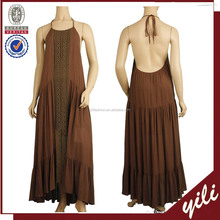 2017 Original summer new design 100% Cotton material European vintage sleeveless maxi dress