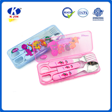 Hot selling school fashion plastic stationary pencil cases together with tableware for supplier