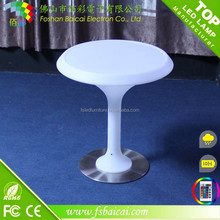 Simple style led high glass center bar table table used for nightclub