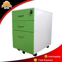office furniture storage unit 3 Drawer Lateral steel pedestal Filing Cabinet Mobile Metal Cabinet
