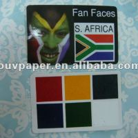 HOT Sporting Colorful Face Paint Card