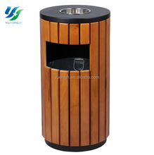 Wooden Waste Bin Outdoor Wooden Trash Bin Advertising Trash Bin