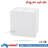 Top quality ABS material 85mmx85mmx50mm IP55 IP65 waterproof plastic electronic junction box