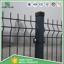 Green pvc coated wire mesh panel/square hole welded metal wire fence panels