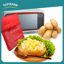 Hot selling as seen on tv red microwave oven cooking potato bag
