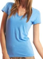 ATS220 Ladies Bamboo Relaxed Fit V-Neck T-Shirt Made In China