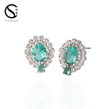 Top Selling Products fashion women colored stone stud earrings 1-6389