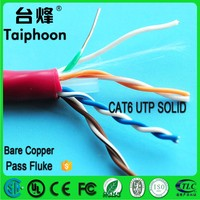 CAT6 UTP SOLID LAN CABLE , 4 pair utp cat6 network cables 305m utp cable cat 6 manufacturing machine