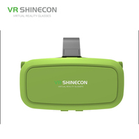 shinecon VR headset 3D Google Glass VR 3D Plastic Edition Head Mount Virtual Reality 3D Glasses Active