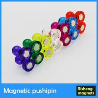 Neodymium Transparent pushpin magnetic pushpin cone shaped magnet